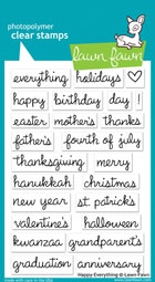 Lawn Fawn- Stamps - Happy Everything