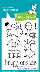 Lawn Fawn- Stamps - Happy Easter