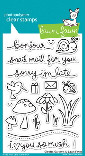 Lawn Fawn- Stamps - Gleeful Gardens