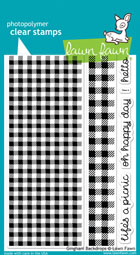 Lawn Fawn- Stamps - Gingham Backdrops