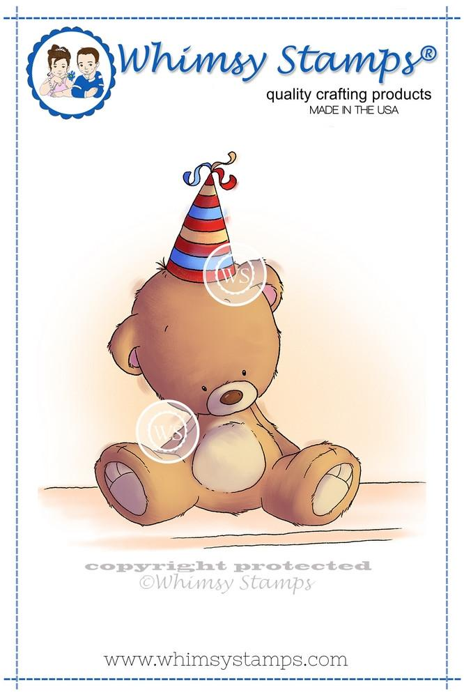 ##Whimsy Stamps - Teddy Birthday Hat