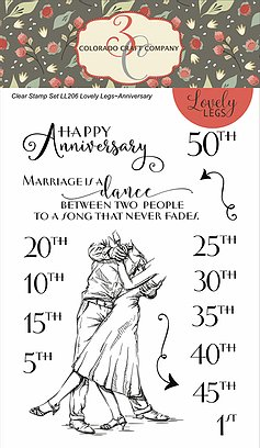 Colorado Craft Company - Lovely Legs-Anniversary 4 X 6 Clear Stamp Set