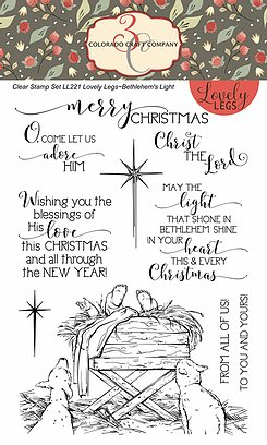 Colorado Craft Company - Lovely Legs-Bethlehem's Light 4 X 6 Clear Stamp Set