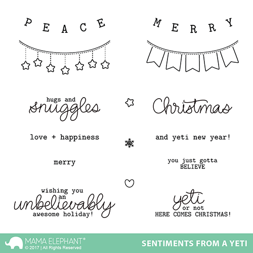 *NEW* - Mama Elephant - SENTIMENTS FROM A YETI - Stamp Set