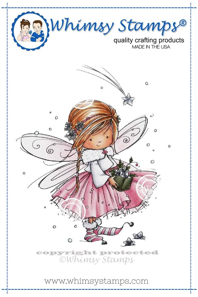 Whimsy Stamps - Anna the Fairy Rubber Cling Stamp