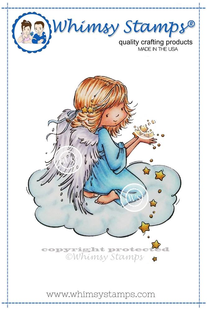 Whimsy Stamps - Angel Celeste Rubber Cling Stamp