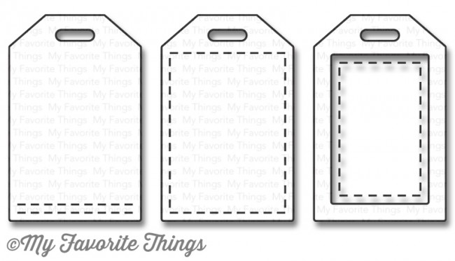 My Favorite Things - Die-namics Stitched Tiny Tags