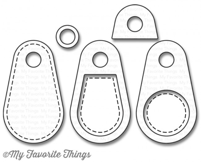 My Favorite Things - Die-namics Stitched Tiny Tags 2