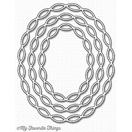####  My Favorite Things -  Linked Chain Oval Frames Die-namics