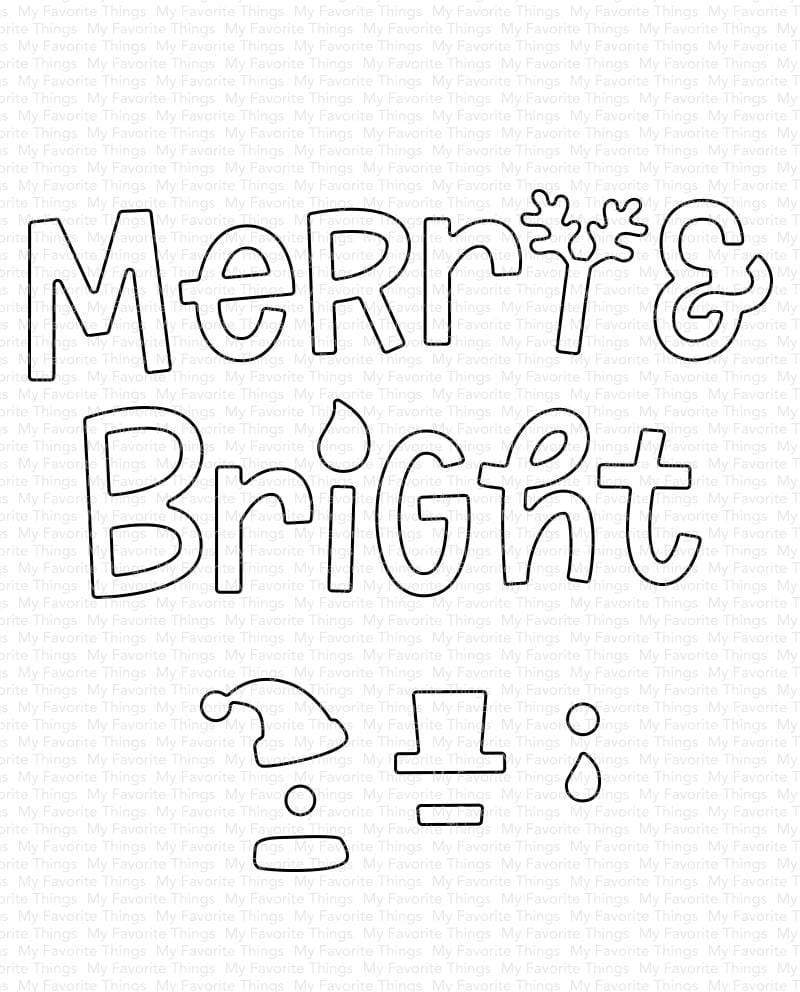 *NEW* - My Favorite Things - Merry and Bright with All the Trimmings Die-namics