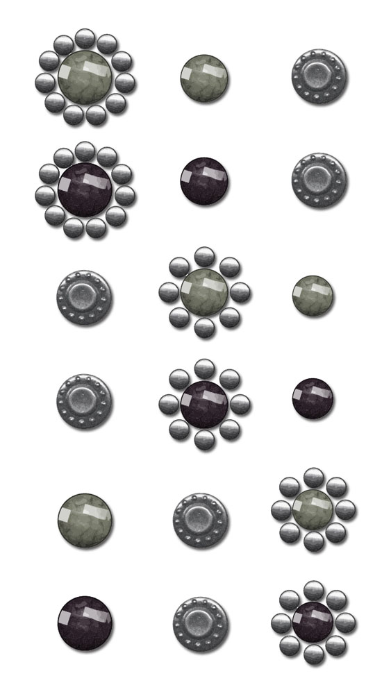 CL  Say It In Crystals - Embellishments - Black/Grey