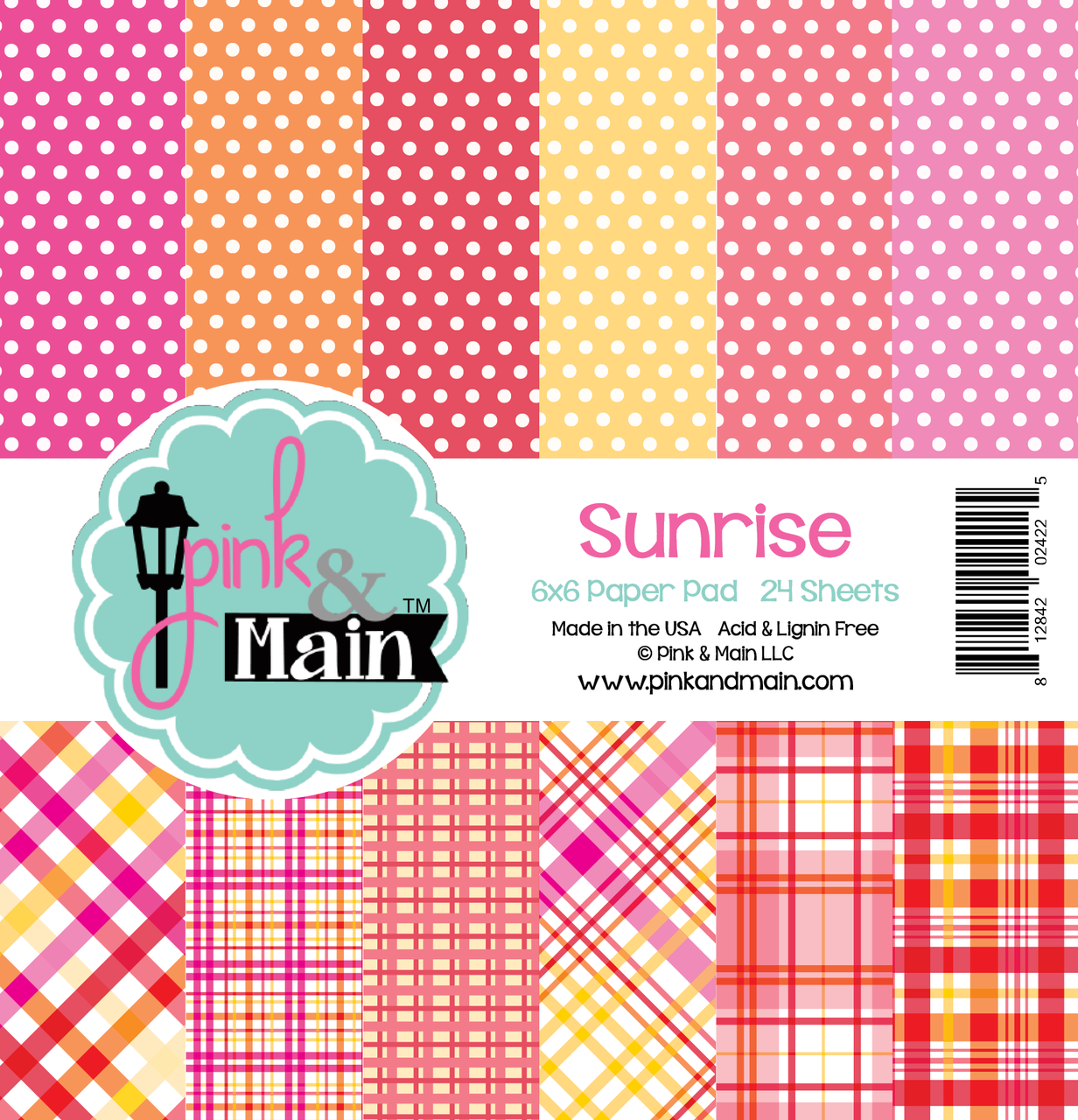 *NEW* - Pink and Main - Sunrise 6x6 Paper Pad