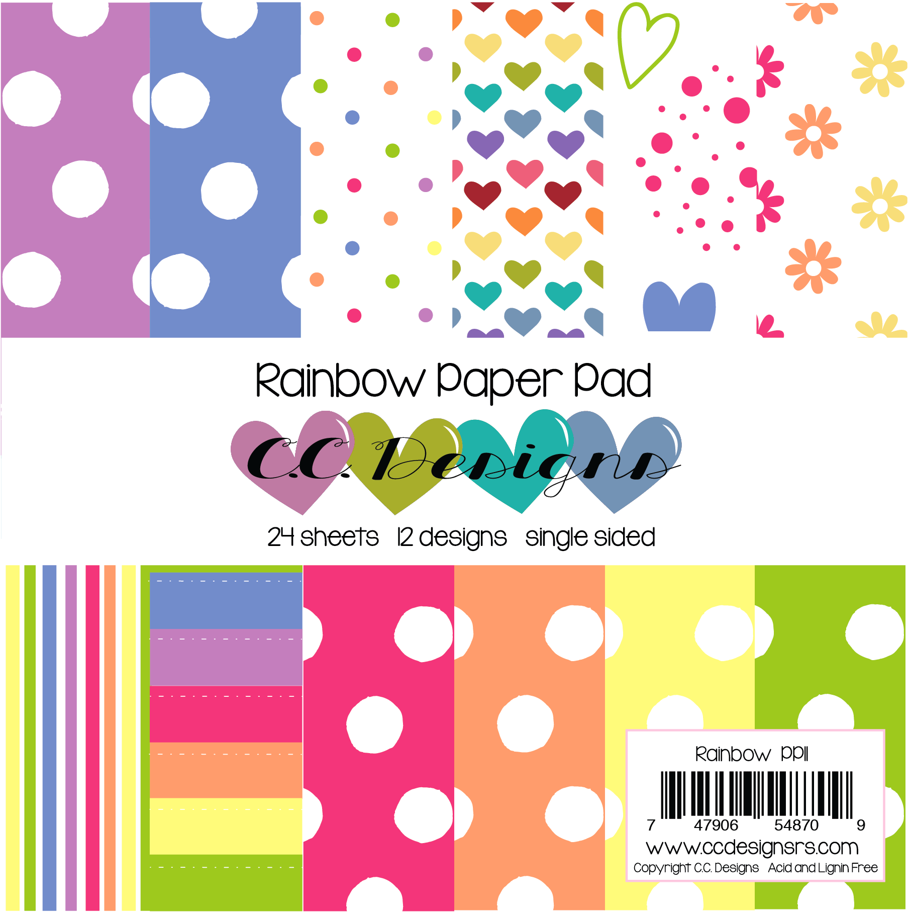 *NEW* - CC Designs - Rainbow Paper Pad
