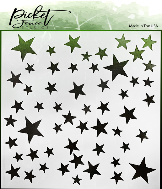 *NEW* - Picket Fence Studios - Stars Stencil