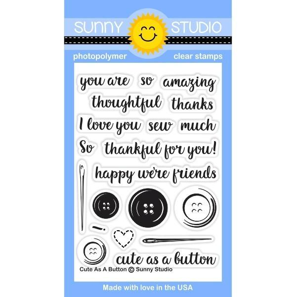 *NEW* - Sunny Studio - Cute As A Button Stamps