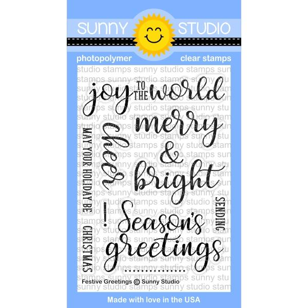 *NEW* - Sunny Studio - Festive Greetings Stamps