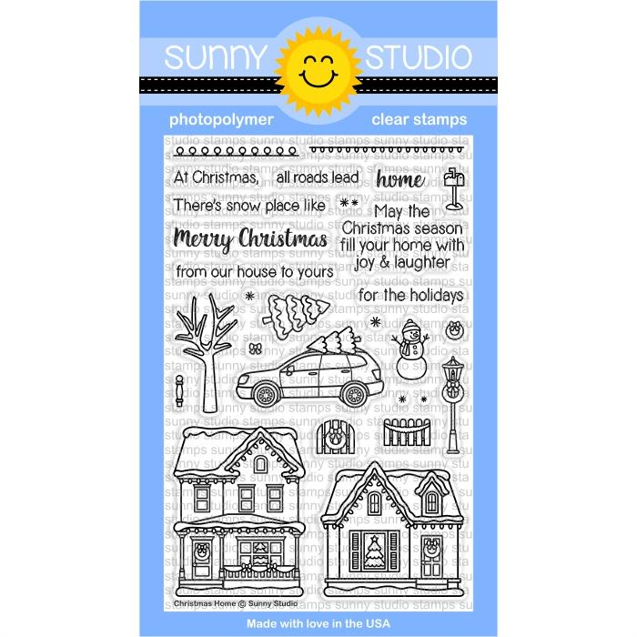 *NEW* - Sunny Studio - Christmas Home Stamps