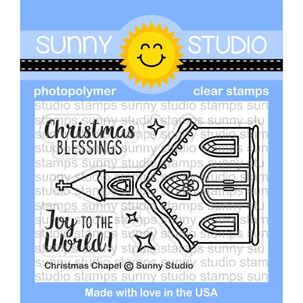 *NEW* - Sunny Studio - Christmas Chapel Stamps