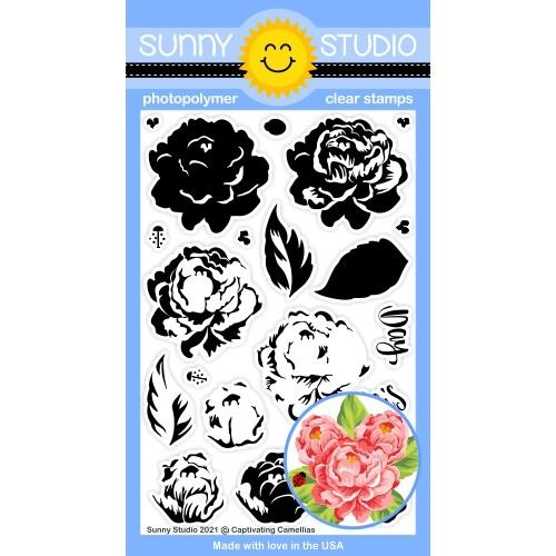 *NEW* - Sunny Studio - Captivating Camellias Stamps