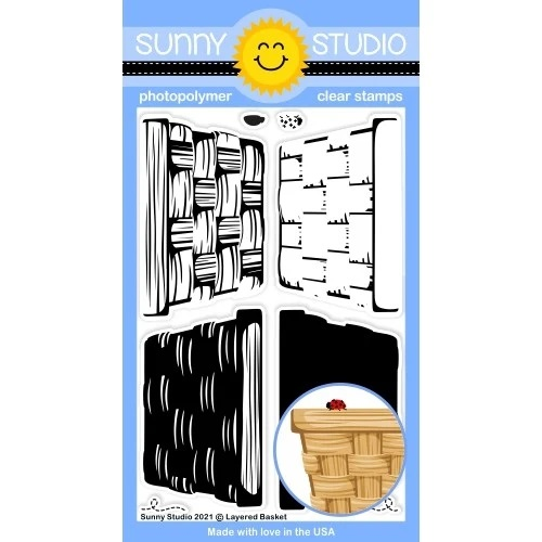 Sunny Studio - Layered Basket Stamps
