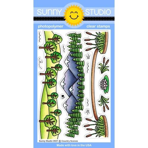 *NEW* - Sunny Studio - Country Scenes Stamps