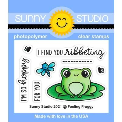 *NEW* - Sunny Studio - Feeling Froggy Stamps