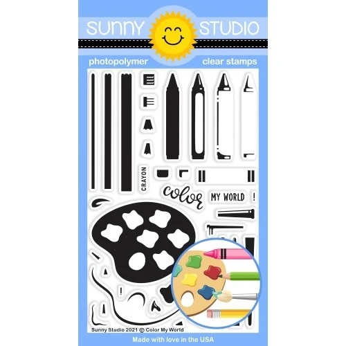***NEW* PRE-ORDER - Sunny Studio - Color My World Stamps DUE IN MID MAY
