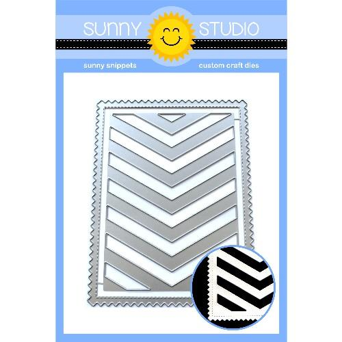 *OFFER OF THE WEEK* - Sunny Studio - Frilly Frames Chevron (16/6/19)