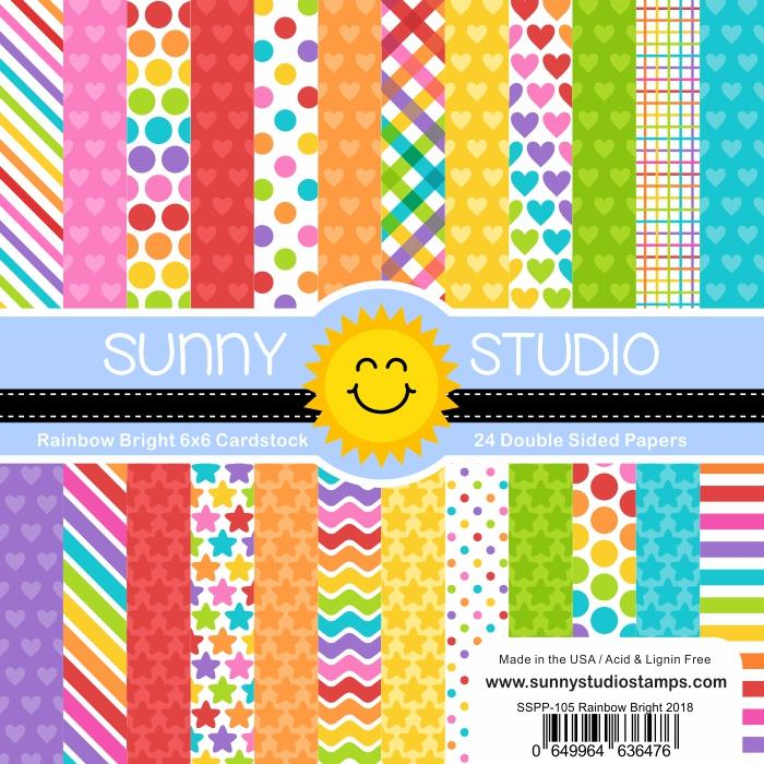 Sunny Studio - Rainbow Bright Paper