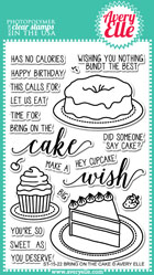 ##Avery Elle- Bring On The Cake Clear Stamps