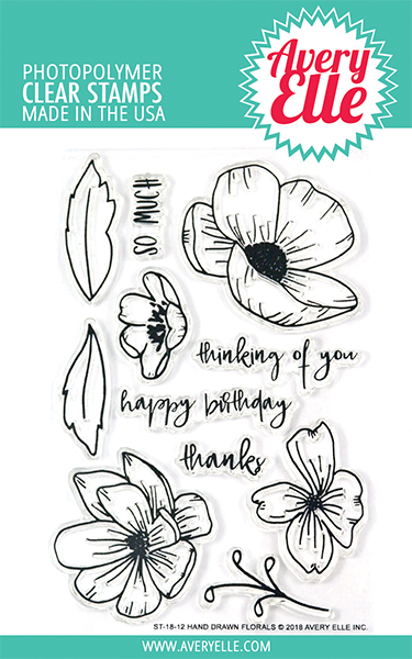 ##Avery Elle - Hand Drawn Florals Clear Stamps
