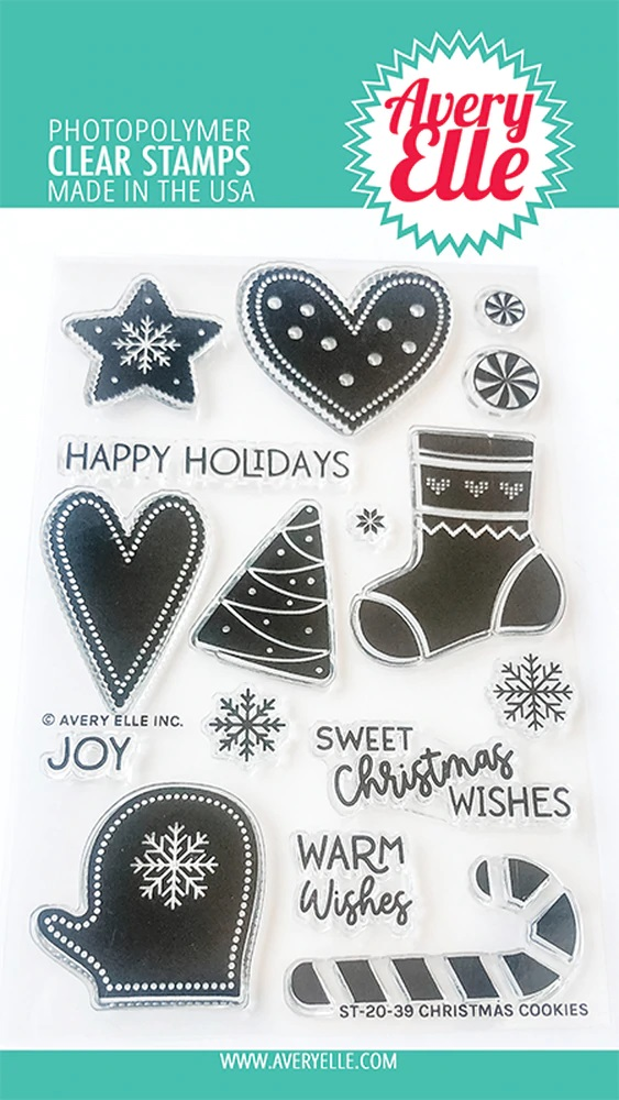 *NEW* - Avery Elle - Christmas Cookies Clear Stamps