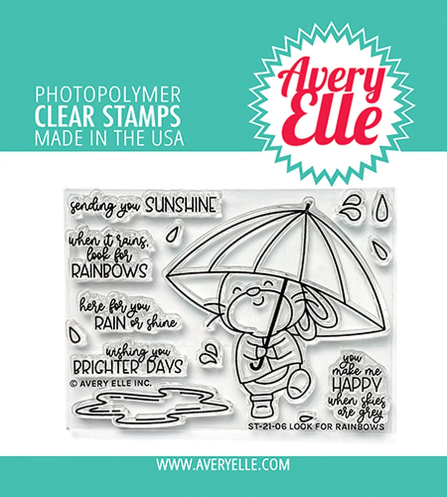*NEW* - Avery Elle - Look For Rainbows Clear Stamps