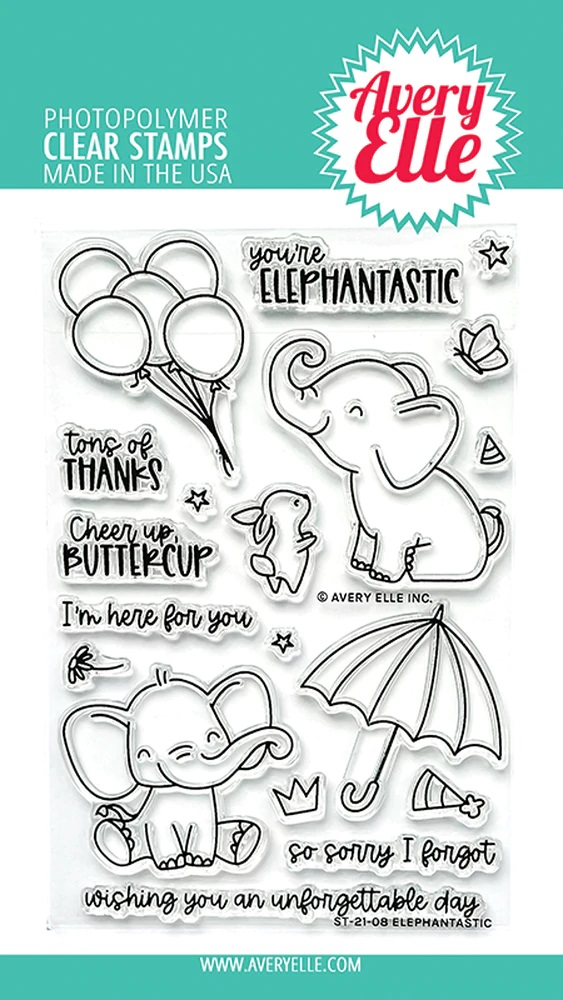 *NEW* - Avery Elle - Elephantastic Clear Stamps