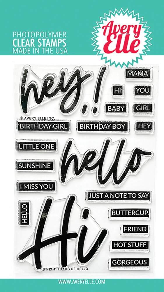 *NEW* - Avery Elle - Loads Of Hello Clear Stamps