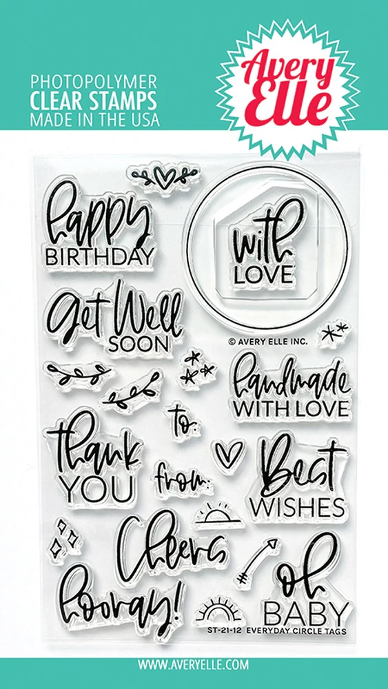 *NEW* - Avery Elle - Everyday Circle Tags Clear Stamps