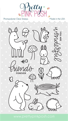 Pretty Pink Posh - Woodland Critters stamp set