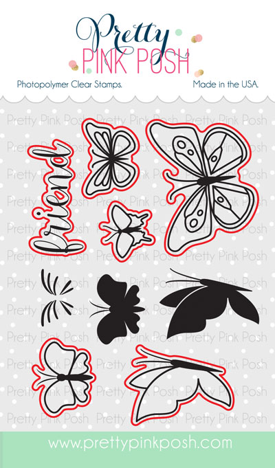 Pretty Pink Posh - Butterfly Friends stamp set