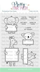 Pretty Pink Posh - Animal Signs Stamps