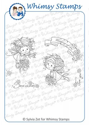 Whimsy Stamps - Wee Stamps - Flower Fairies - Wee Stamps