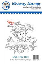 Whimsy Stamps - Wee Stamps - Oak Tree Boy - Wee Stamps