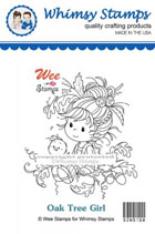 Whimsy Stamps - Wee Stamps - Oak Tree Girl - Wee Stamps
