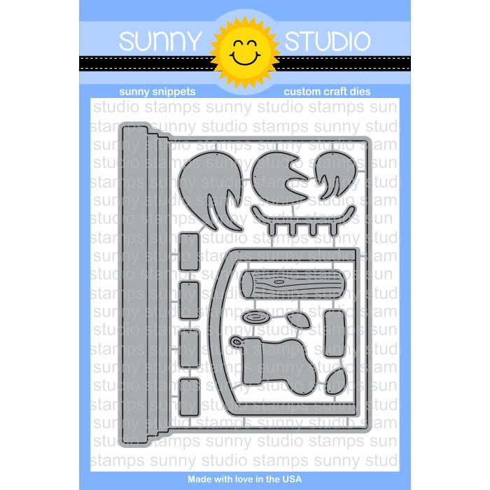 *NEW* - Sunny Studio - Fireplace Shaped Dies
