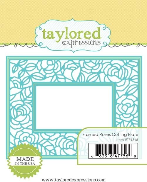 Taylored Expression - Framed Roses Cutting Plate