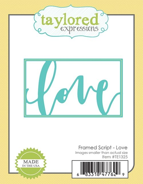 Taylored Expression - Framed Script - Love