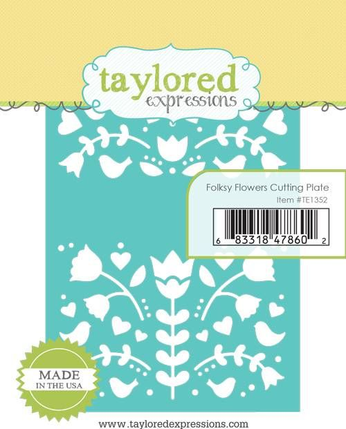 Taylored Expression - Folksy Flowers Cutting Plate