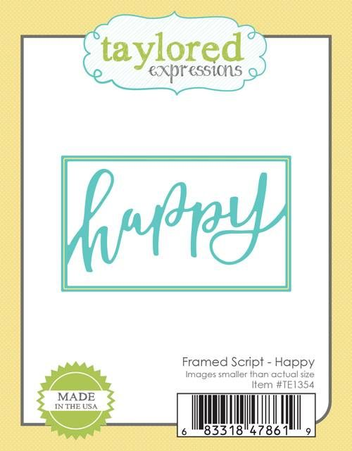 Taylored Expression - Framed Script - Happy