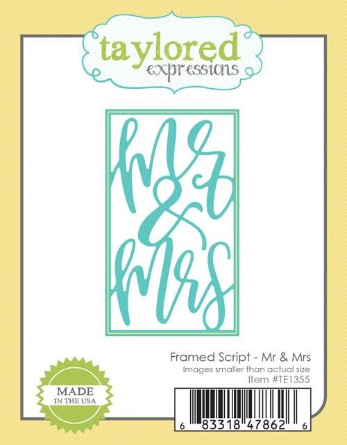 Taylored Expression - Framed Script - Mr & Mrs