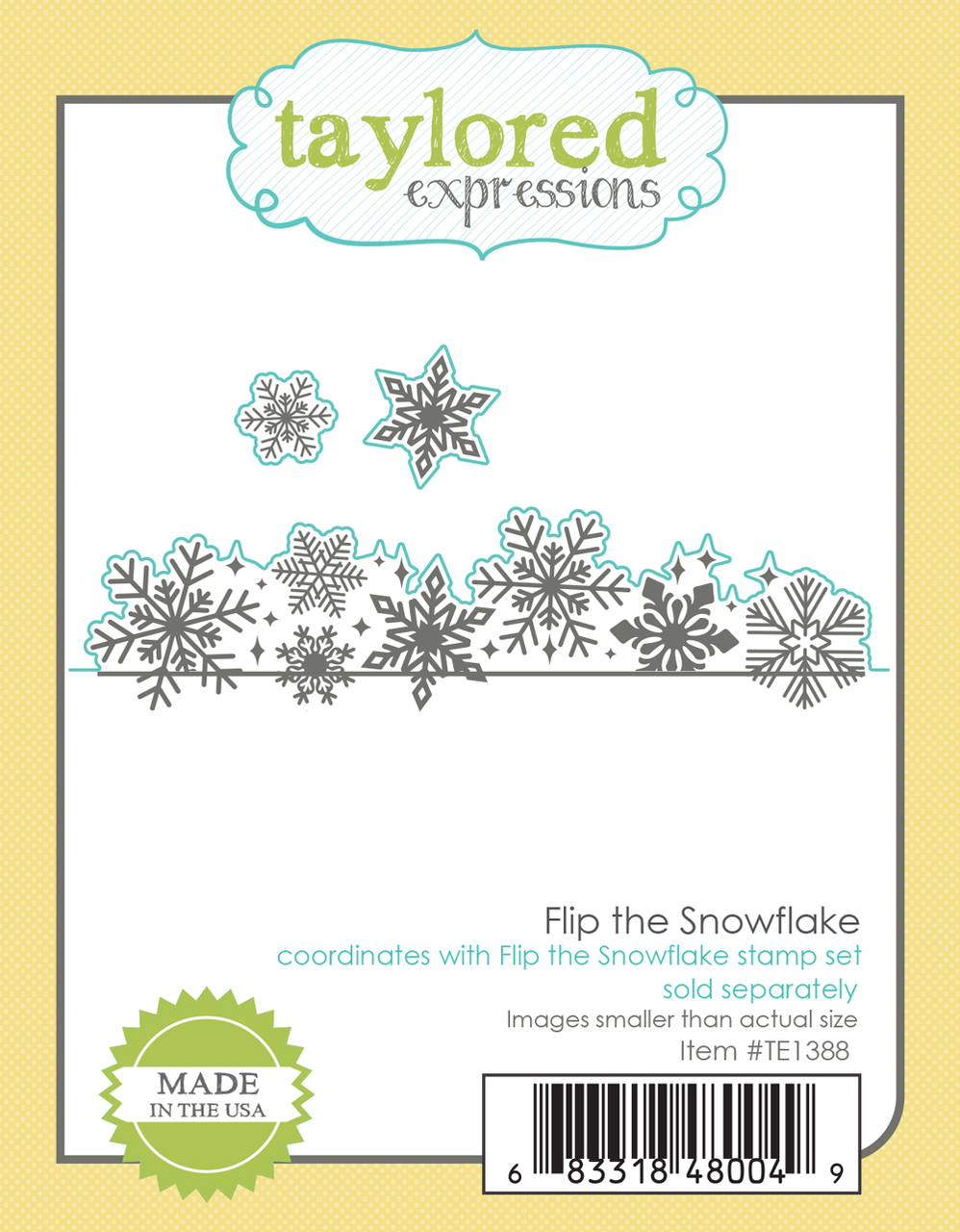 Taylored Expression - Flip the Snowflake Dies