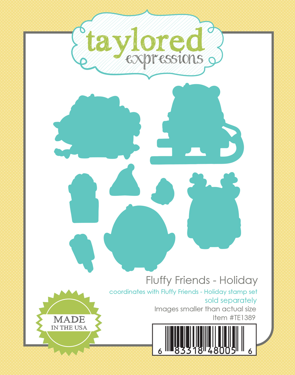 Taylored Expression - Fluffy Friends - Holiday Dies